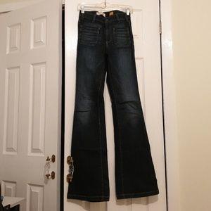 Pilcro Hi Rise Flare Jeans